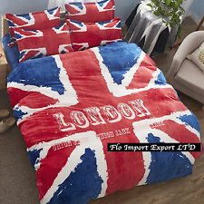 Couverture Duvet Drap Taies d'oreiller UK Flag Batteries Housse de couette Duvet