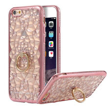 Luxury 3D Sun Flower Bling Diamond Ring Stand Phone Soft Case Cover For iPhone 6