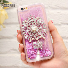 3D Diamond Glitter Love Heart Liquid Quicksand Soft Gel Case Cover For iPhone 6