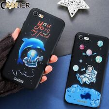 3D Space ET Dolphin TPU Back Phone Soft Slim Case Cover For iPhone X 8 7 6 5