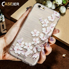 Flower Patterned Cute Back Phone Clear Soft Gel Case Cover For iPhone Samsung