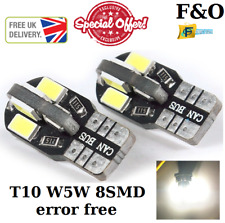 UPTO X10 CANBUS 8 SMD LED 5630 T10 W5W WEDGE CAPLESS SIDE LIGHT BULB XENON WHITE