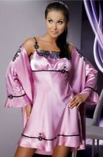 sexy rose poudré robe de nuit bbaydoll satin glissant Mirabelle irall 8 10 12 14