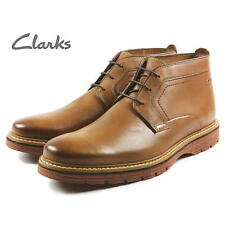 CLARKS hommes TRENDY Newkirk Bottes Montantes Tabac Cuir UK 7,8,9, 10 g
