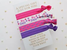 Little Sister Gift / Big Sister Gift / Hair Ties /  Sister Gift / Elastic / FOE