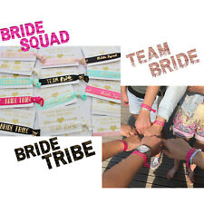 BRIDE TRIBE HAIR TEAM BRIDE WRISTBAND 1ST CLASS FAST DELIVERY HEN PARTY FAVOURS