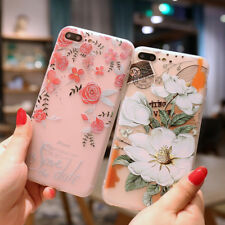 Luxury 3D Relief Flower Silicone Gel Back Phone Case Cover For iPhone X 8 7 6 5
