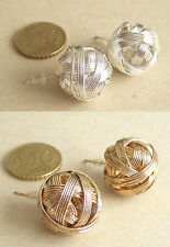 PENDIENTES BOLA GRANDE 1.7 cms. PLATEADOS o DORADOS A ELEGIR BALL EARRINGS