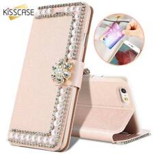 Bling Glitter Leather Flip Wallet Card Slot Stand Case Cover For Samsung iPhone