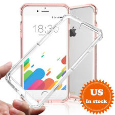 For iPhone X 7 8 Plus Mosafe® Clear Shockproof TPU Bumper+Hard Slim Case Cover