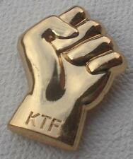 NORTHERN SOUL BADGE - QUALITY KTF FIST SHAPE - GOLD OR SILVER PLATE