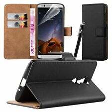 Leather Wallet Flip Book Card Case Cover Pouch For ZTE Axon 7 Mini