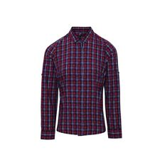 Premier Workwear Womens Sidehill Check Cotton Long Sleeve Shirt