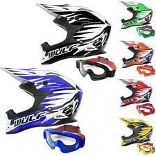 Wulfsport Advance Casco Motocross Moto MX Enduro Quad ATV + LEOPARD Gafas