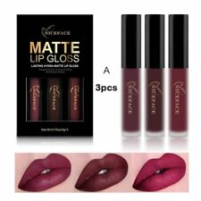 3Pcs/set Matte Long lasting Lipstick Liquid Waterproof Lip Gloss Lips Makeup Hot