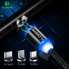 Super LED Micro USB Type C Lightning Fast Magnetic Charger For iPhone Samsung LG