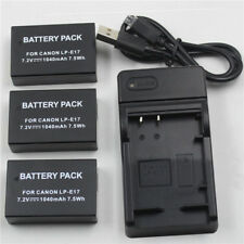 Replacement For LP-E17 Battery USB Charger For Canon EOS 750D 760D M3 T6i Camera