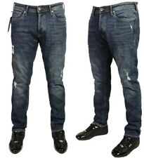 MENS JACK & JONES JEANS TIM RIPPED SLIM FIT JEANS BARGAIN PRICE 29.99 SIZE 30-36