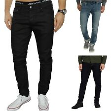 MENS JACK & JONES GLENN SLIM FIT JEANS BLACK COATED BARGAIN PRICE SIZE 28-36