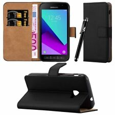 Leather Wallet Flip Book Card Case Cover Pouch For Samsung Galaxy Xcover 4