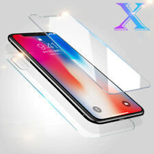 Front Screen Protector Guard Film + Back Clear Film Cover For iPhone X 8 7 6 5