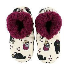 LazyOne Womens Huckle-Berry Bear Fuzzy Feet Slippers Adult