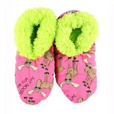 LazyOne Womens Don't Moose with Me Fuzzy Feet Slippers Adult