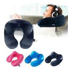 U Shape Travel Inflatable Pillow for Airplane Neck Pillow Comfortable Pillows