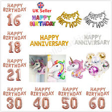 Birthday Balloon Banner Bunting Self Inflating Foil Balloons Letters Party Decor