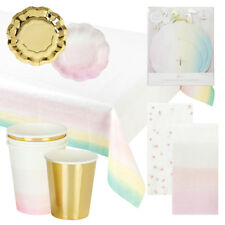 Talking Tables - Gold and Pink Ombre Tableware Set - Party Pack all occasions