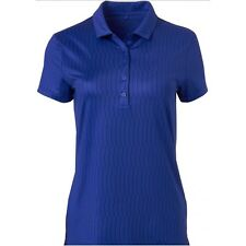 New - Genuine Nike Golf Women's Icon Print Royal Blue Polo Shirt  Size XL UK 16