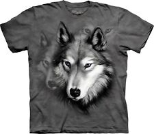 The Mountain Maglietta Wolf Portrait Animal Adulto Unisex