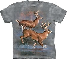The Mountain Maglietta Unisex Adulto Whitetail Run Animal
