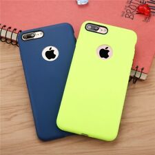 Ultra Thin Candy Colour TPU Grain Rubber Phone Case Cover For iPhone X 8 7 6 5
