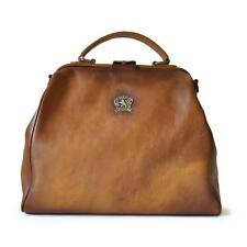 Pratesi borsa donna in pelle a mano e tracolla bauletto woman leather handbag