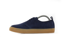 X Fred Perry Linden Suede Shoes - Carbon Blue (Fred Perry Limited)