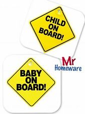 Baby / Child On Board Sign Baby Suction Cup Vehicle Car Driving Safety Bright