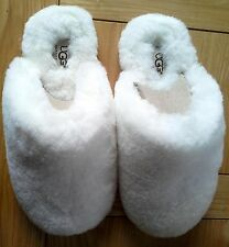 BNIB Authentic White UGG Australia Fluff Scuff II Slippers (RRP £199) UK 3.5