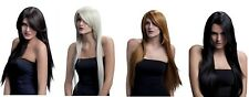 Ladies Natural Look Fancy Dress Professional 71 cm Long Straight Wig with Fringe