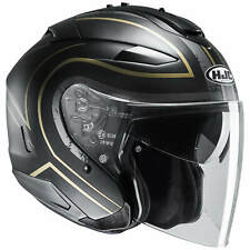HJC IS-33 II Apus moto Casque jet - Noir Mat Or