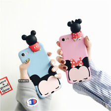 Cartoon 3D Minnie Mickey Mouse Donald Slim Back Phone Case Cover For iPhone