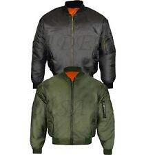 Mens MA1 Army Pilot Biker Bomber Security Fly Military Doorman Jacket Top New