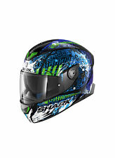 Casco Integral SHARK SKWAL 2 Interruptor Riders 2 Con Led KBG Azul - Verde