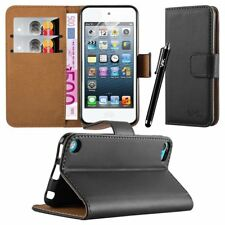 Leather Wallet Flip Book Card Case Pouch For Apple iPod Touch 5th&6th Generation