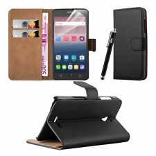 Leather Wallet Flip Book Card Case Cover Pouch For Alcatel OneTouch Pop Star