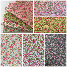 Per F/Q 1/2 1 metre Vintage Floral Polycotton Fabric Bunting Dressmaking Sewing
