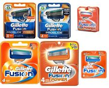 GILLETTE FUSION BLADES POWER PROGLIDE 4s and 8s 100% Genuine