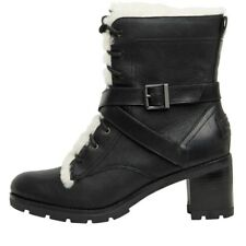 NEW UGG Australia Womens Ingrid Strap Black Leather Boots UK 3.5 - 7.5