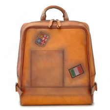Pratesi borsa da viaggio zaino in pelle con manico italian leather backpack