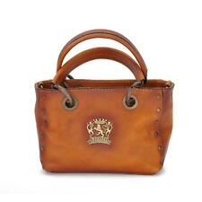 Pratesi borsa donna a mano e tracolla in pelle italian leather handbag bauletto